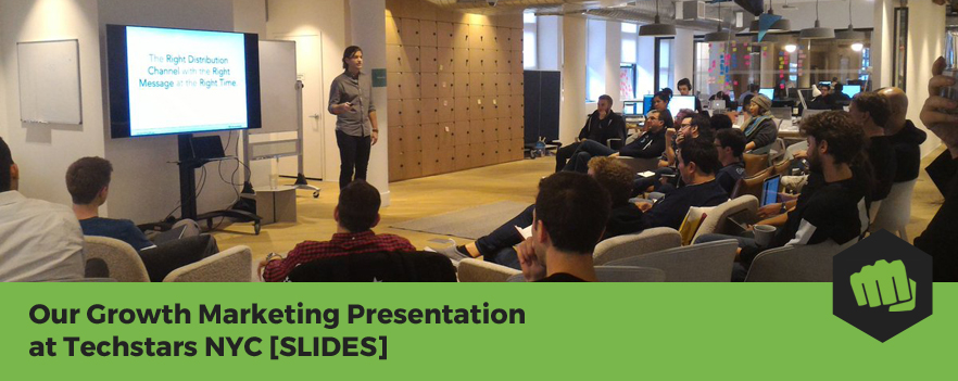 Featured image - Our Growth Marketing Presentation at Techstars NYC [SLIDES]